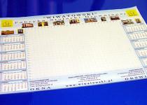 Kalendarz - na ścianę