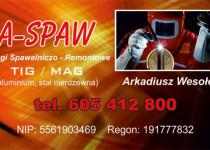 Wizytówka - A-Spaw